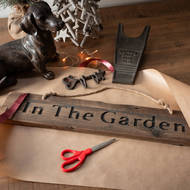 Image 2 - In The Garden Rustic Wooden Message Plaque