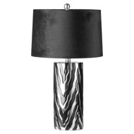 Image 1 - Jaspa Table Lamp With Black Velvet Shade