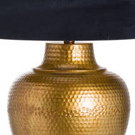 Image 2 - Knowles Bronze Table Lamp With Black Velvet Shade
