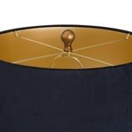 Image 3 - Knowles Bronze Table Lamp With Black Velvet Shade