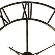 Image 2 - Large Antique Brass Skeleton Wall Clock