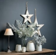 Image 3 - Large Antique White Wooden Sparkle Star