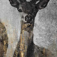 Image 2 - Large Curious Stag Painting on Cement Board with Frame