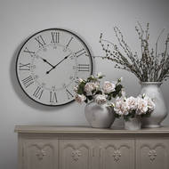 Image 5 - Large Embossed Station Wall Clock