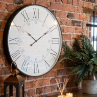 Image 6 - Large Embossed Station Wall Clock