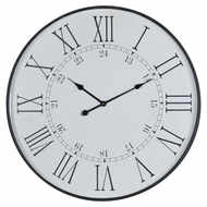 Image 1 - Large Embossed Station Wall Clock
