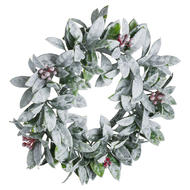 Image 1 - Large Frosted Candle Wreath