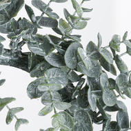 Image 2 - Large Frosted Eucalyptus Candle Wreath