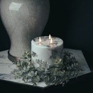 Image 3 - Large Frosted Eucalyptus Candle Wreath