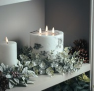 Image 4 - Large Frosted Eucalyptus Candle Wreath