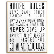 Image 1 - Large Glass House Rules Wall Art