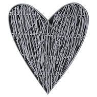 Image 3 - Large Grey Willow Branch Heart