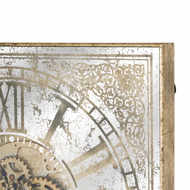 Image 2 - Large Mirrored Square Framed Clock With Moving Mechanism