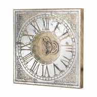Image 1 - Large Mirrored Square Framed Clock With Moving Mechanism