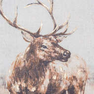 Image 2 - Large Stag On Cement Board With Frame