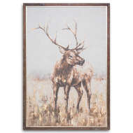 Image 1 - Large Stag On Cement Board With Frame