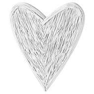 Image 1 - Large White Willow Branch Heart