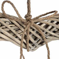Image 2 - Large Wicker Hanging Heart with Rope Detail