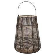 Image 1 - Large Wire Glowray Conical Lantern