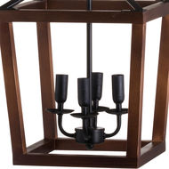 Image 3 - Large Wooden Coach Lantern Hanging Pendant Light