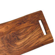 Image 2 - Live Edge Chopping Board With Handle