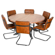 Image 3 - Live Edge Collection Large Round Dining Table