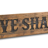 Image 2 - Love Shack Rustic Wooden Message Plaque
