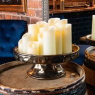 Image 7 - Luxe Collection 3.5 x9 Cream Flickering Flame LED Wax Candle