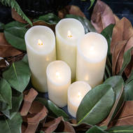 Image 6 - Luxe Collection 3 x 6 Cream Flickering Flame LED Wax Candle