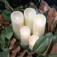 Image 7 - Luxe Collection 3 x 6 Cream Flickering Flame LED Wax Candle