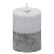 Image 1 - Luxe Collection Natural Glow 3x4 Grey  Dipped LED Candle