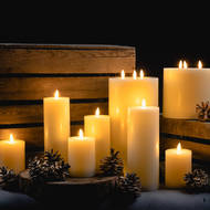Image 4 - Luxe Collection Natural Glow 6 x 12 LED Ivory Candle