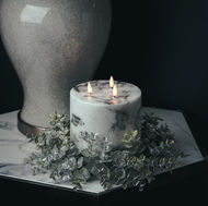 Image 3 - Luxe Collection Natural Glow 6x6 Marble Effect LED Candle