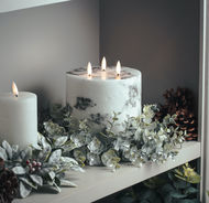 Image 4 - Luxe Collection Natural Glow 6x6 Marble Effect LED Candle