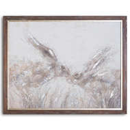 Image 1 - March Hares On Cement Board With Frame