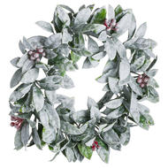 Image 1 - Medium Frosted Candle Wreath