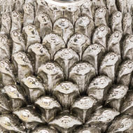 Image 2 - Medium Silver Pinecone Candle Holder