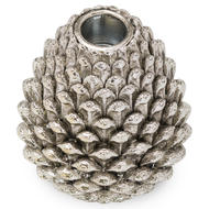Image 1 - Medium Silver Pinecone Candle Holder