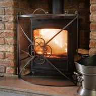 Image 1 - Mesh Fireguard in Antique Pewter Effect Finish