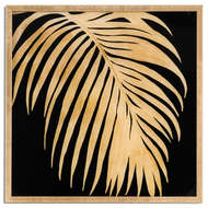 Image 1 - Metallic Palm Glass Image In Gold Frame
