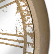Image 3 - Mirrored Round Wall Clock with Moving Mechanism