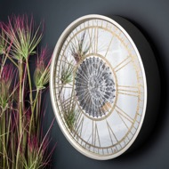 Image 6 - Mirrored Round Wall Clock with Moving Mechanism