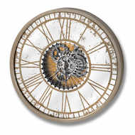 Image 1 - Mirrored Round Wall Clock with Moving Mechanism
