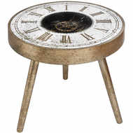 Image 1 - Mirrored Round Framed Clock Table With Moving Mechanism