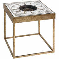 Image 1 - Mirrored Square Framed Clock Table With Moving Mechanism