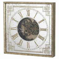 Image 1 - Mirrored Square Framed Wall Clock with Moving Mechanism