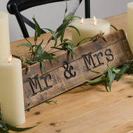 Image 2 - Mr & Mrs Rustic Wooden Message Plaque