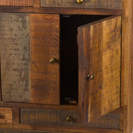 Image 2 - Multi Draw Reclaimed Industrial Chest With Brass Handle