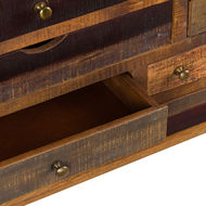 Image 3 - Multi Draw Reclaimed Industrial Chest With Brass Handle