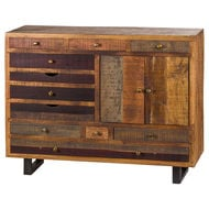 Image 1 - Multi Draw Reclaimed Industrial Chest With Brass Handle